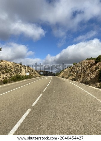 Road trip on the road to al Hoceima city located in the Rif mountains in Morocco Stockfoto ©