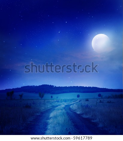 road under the stars