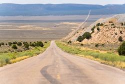 road vanishing into the distance Utah