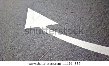 road with arrow direction
