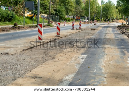 Road works, horizontal, no people #708381244