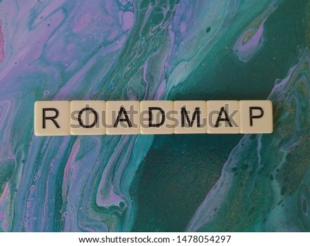 Roadmap alphabet blue and purple abstract  background #1478054297