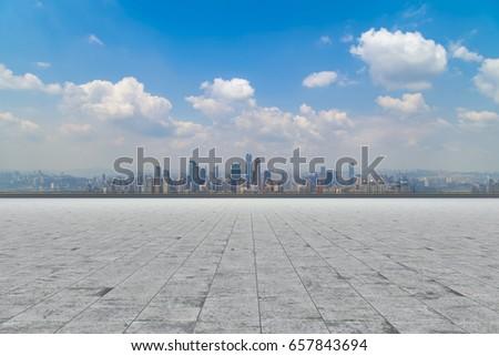 Roads, roads, and the beautiful skyline of Chongqing  #657843694