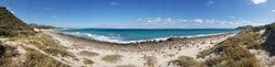 Roadside deserted beach near East Cape on the Sea of Cortez off the south eastern Baja, Mexico