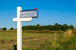 roadside mailbox in the countryside