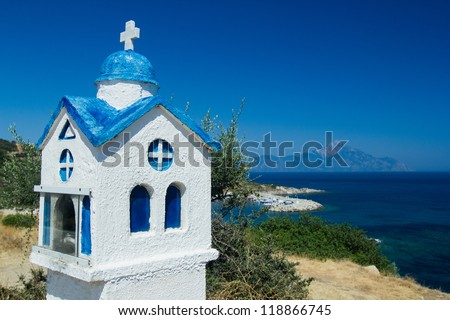 Roadside shrine, Macedonia, Chalkidiki, Sithonia, Northern Greece