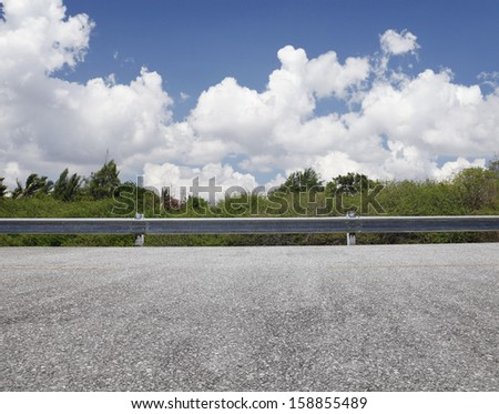 Roadside view, blue sky #158855489