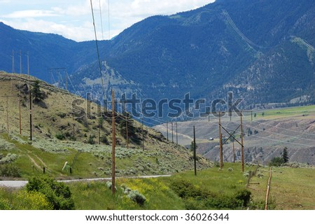 Roadside view of the desert-like landscape along the highway 1, british columbia, canada