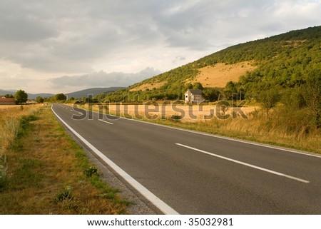 roadway - stock photo
