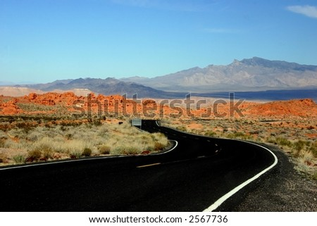 Roadway through the Valley of Fire Nevada