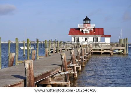 Roanoke Marshes Lighthouse in Roanoke Island, Manteo, North Carolina, USA