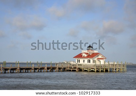 Roanoke Marshes Lighthouse in Roanoke Island, Manteo, North Carolina, USA