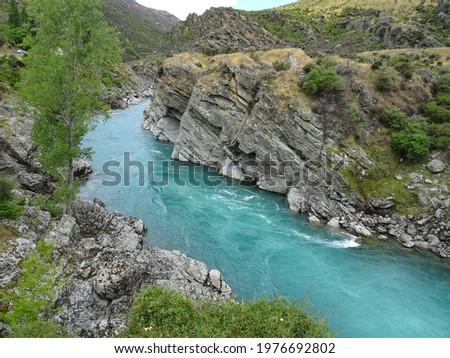 Roaring Meg Hydro scheme - Roaring Meg Dam Stock fotó ©