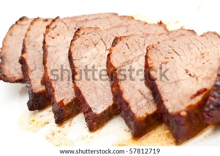roast beef isolated on white