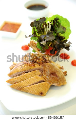 Roast duck chinese cuisine - stock photo