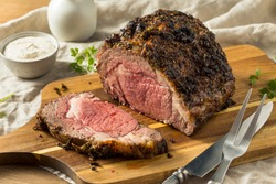 Roasted Boneless Prime Beef Rib Roast Ready to Eat