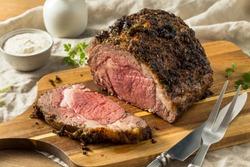 Roasted Boneless Prime Beef Rib Roast Ready to Eat
