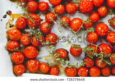 Roasted cherry tomatoes #728378668
