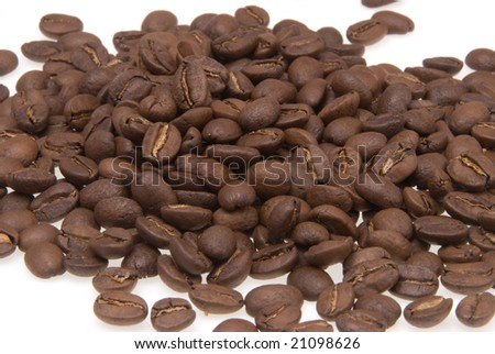 Roasted coffee beans - closeup