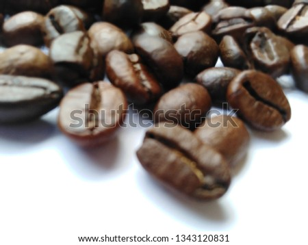 Roasted coffee beans, dark brown and light brown on a white background #1343120831