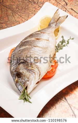 roasted fish