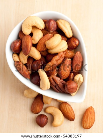 Roasted Nuts in a Bowl