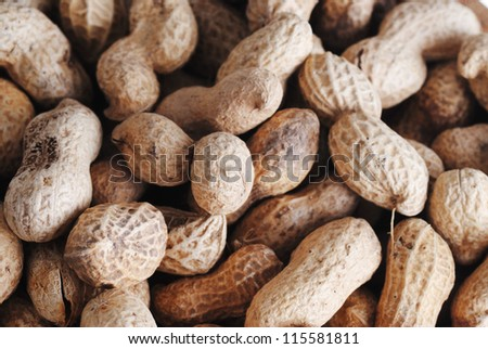 roasted peanuts in shell, vegetable  eating food