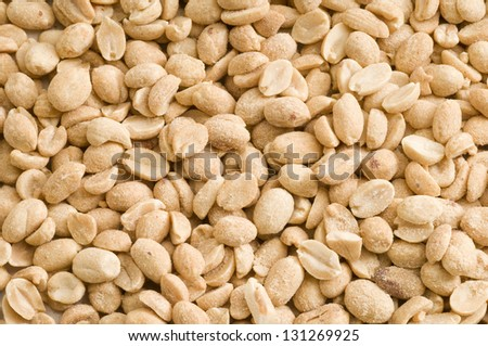 Roasted, salted peanuts good for a background
