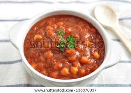 roasted tomato soup with beans