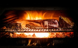 roasted with charcoal in Josper oven