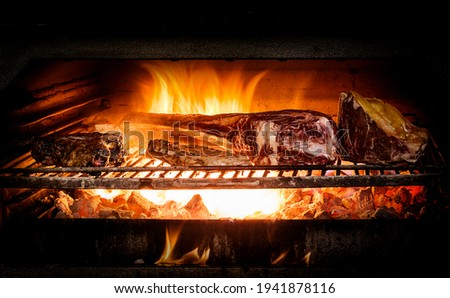 roasted with charcoal in Josper oven Foto stock ©