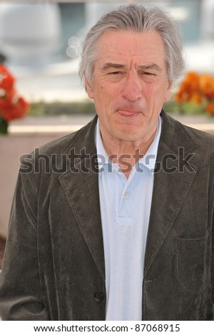 Robert De Niro at the photocall for the jury at the 64th Festival de Cannes. May 11, 2011  Cannes, France Picture: Paul Smith / Featureflash