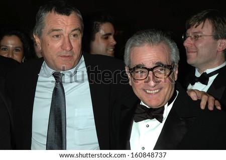 Robert DeNiro and Martin Scorsese at the ARTS AND BUSINESS COUNCIL GALA at Gotham Hall, NY, November 15, 2004