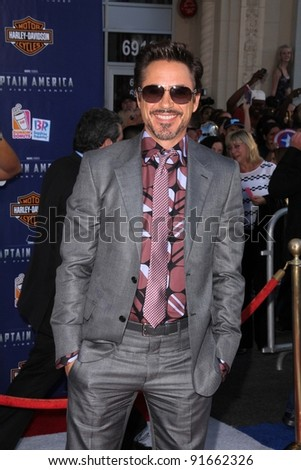 "Robert Downey Jr. at the Los Angeles Premiere Of ""Captain America: The First Avenger,"" El Capitan, Hollywood, CA. 07-19-11"