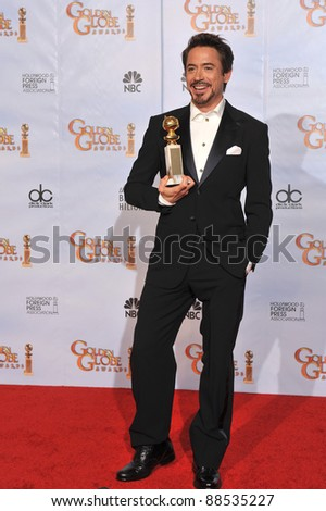 Robert Downey Jr at the 67th Golden Globe Awards at the Beverly Hilton Hotel. January 17, 2010  Beverly Hills, CA Picture: Paul Smith / Featureflash