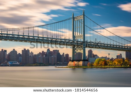 Robert F. Kennedy Bridge in New York City spanning the East River from Randalls Island to Queens. Stock fotó ©