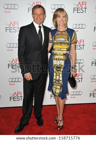 """Robert Iger & wife Willow Bay at the AFI Fest premiere of """"Lincoln"""" at Grauman's Chinese Theatre, Hollywood. November 8, 2012  Los Angeles, CA Picture: Paul Smith"""