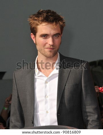 Robert Pattinson at hand & footprint ceremony honoring the Twilight Saga stars at Grauman's Chinese Theatre, Hollywood. November 3, 2011  Los Angeles, CA Picture: Paul Smith / Featureflash