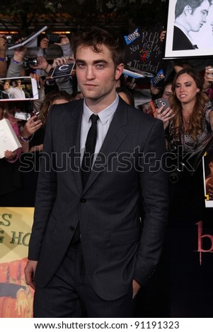 "Robert Pattinson at ""The Twilight Saga: Breaking Dawn - Part 1"" Los Angeles Premiere, Nokia Theatre L.A. Live, Los Angeles, CA 11-14-11"