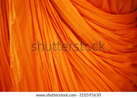 Robes, a symbol of the Buddhist monks.