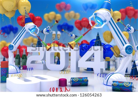 Robot 2014 - stock photo