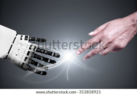 Shutterstock Robot and human connection