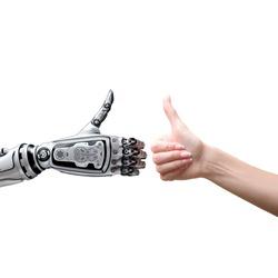 Robot and human thumbs up