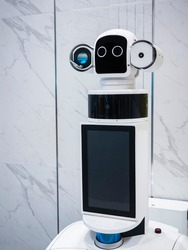 Robot Assistant with Information screen Robotic Humanoid Technology
