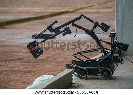 Shutterstock robot explosive disposal