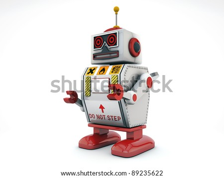 robot isolated on white background
