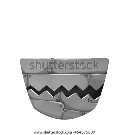 Stock Photo Robot Mouth Mask. Creative Idea, Innovative art, Concept Illustration, Cartoon Style Artwork
