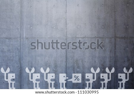 robot negotiation on concrete wall