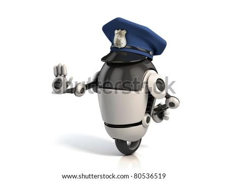 robot policeman #80536519