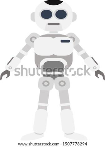 Robot SIlver Modern, Modern silver robotic, Humanoid silver robot, robot, Robot